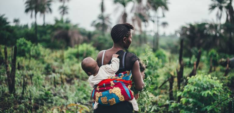 Woman and baby in Sierra Leone