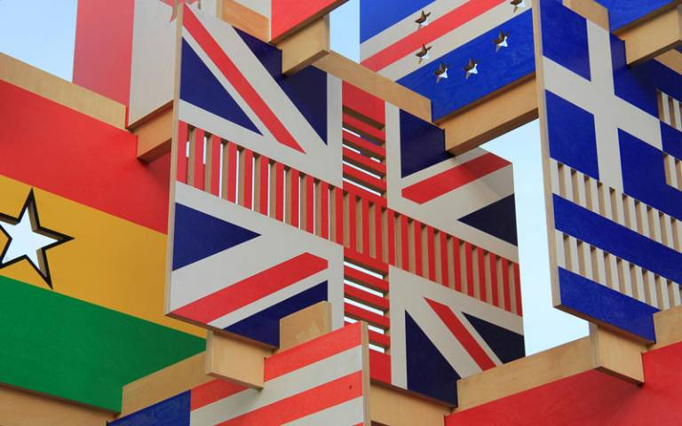 Wooden flags from around the world. Image: Karen Roe via Flickr (CC BY 2.0)