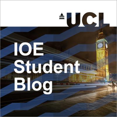 'IOE Student Blog' and image of Big Ben