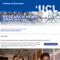 Research News newsletter, Spring 2019