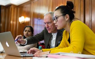 Academic and student in class. Image: Alejandro Walter Salinas Lopez for UCL