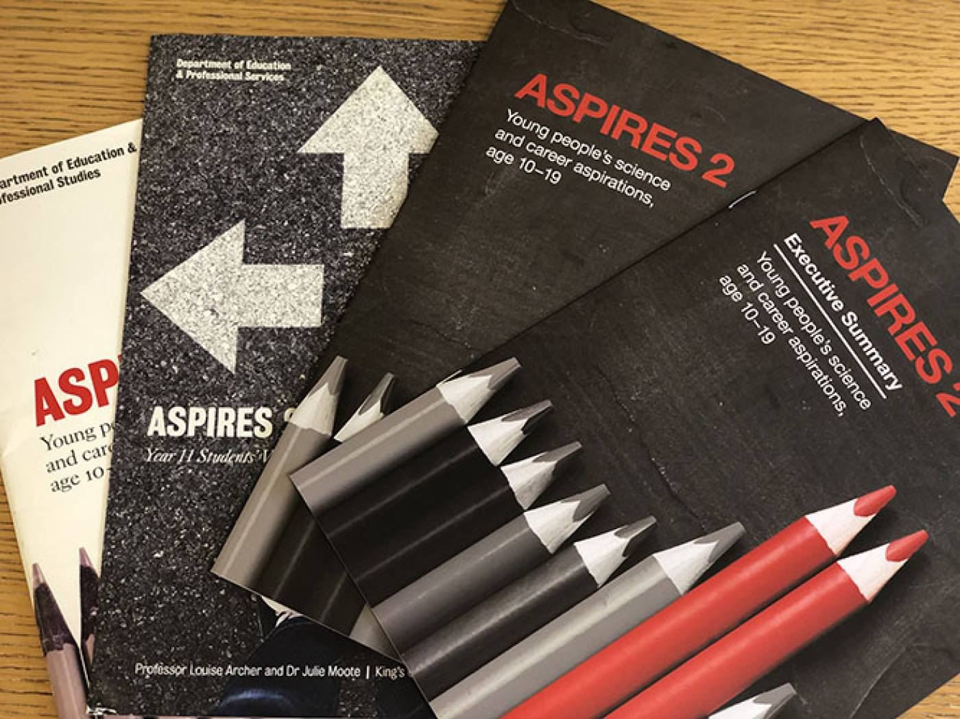 ASPIRES project reports. Image: Julie Moote for UCL Institute of Education