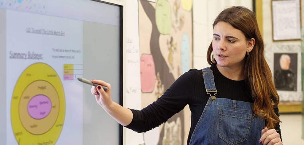 Teacher in classroom. Image: Phil Meech for UCL Institute of Education