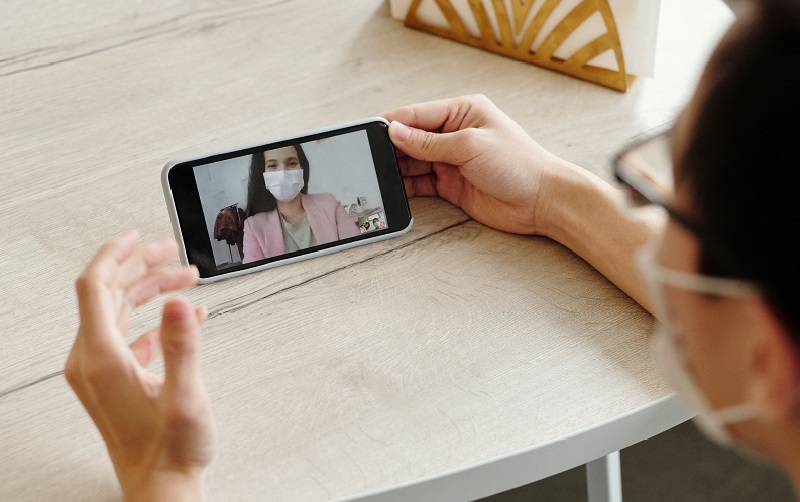 Video call being made from a phone
