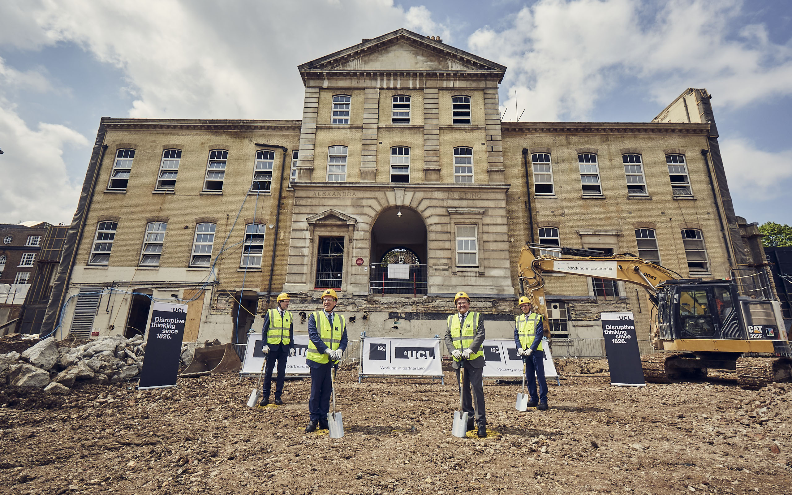 ground breaking of new UCL Neuroscience facility