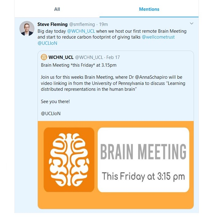 virtual brain meetings tweet