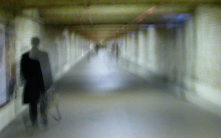 blurred vision corridor