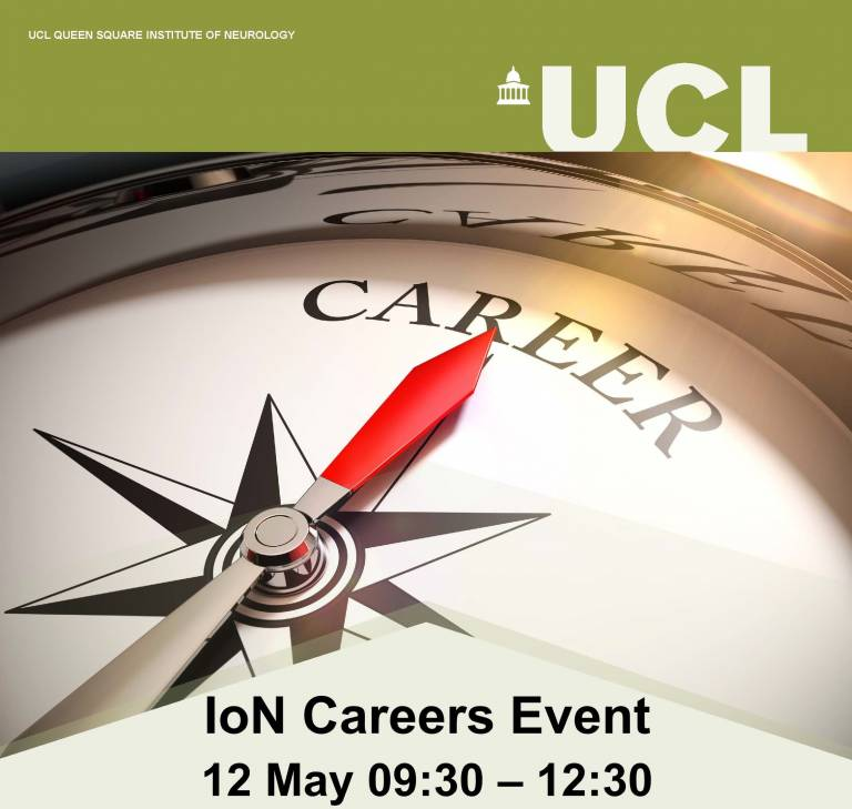 This poster features an image of a compass pointing to your career.