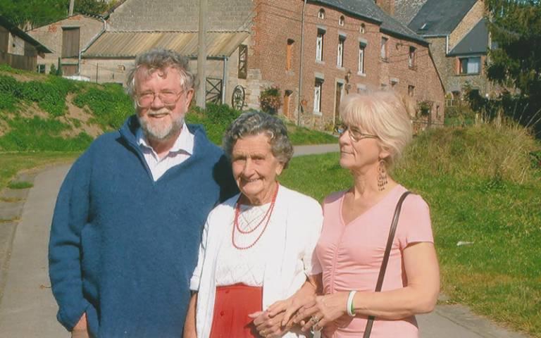Jo Cameron and mum and husband