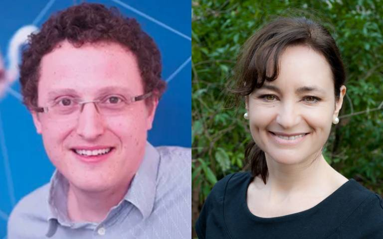 Professor Cathy Price and Tim Behrens