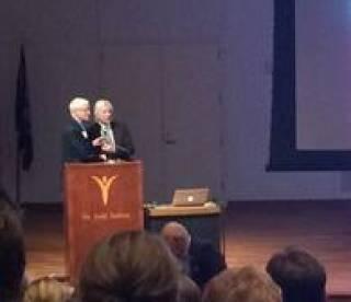Professor Lees receiving Jay Van Andel Award for Outstanding Research in Parkinson's Disease
