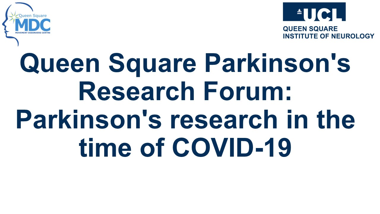 parkinsons and covid 19 webinar title banner