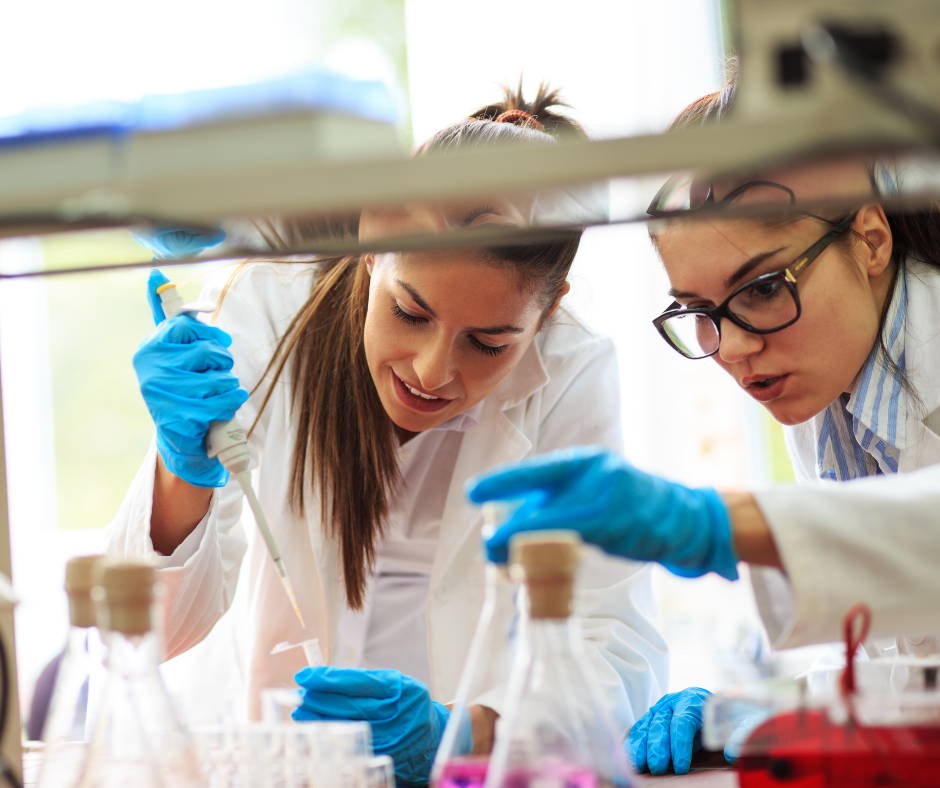 two technicians in a lab