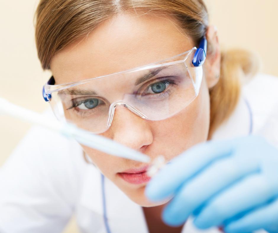 female lab technician