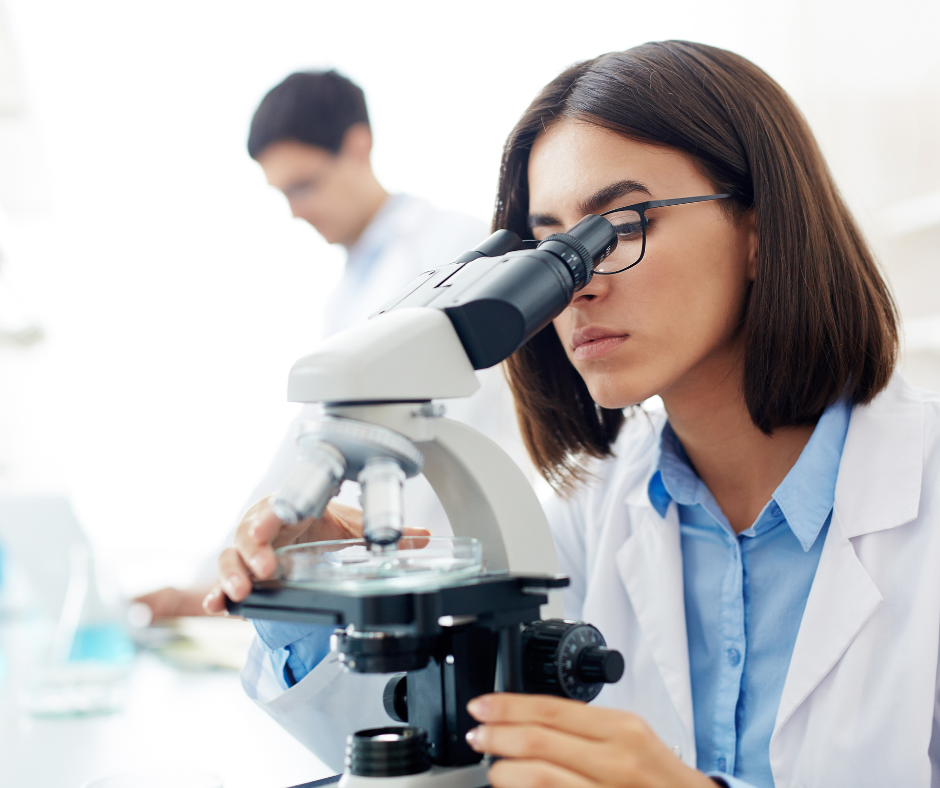 a female researcher in a lab