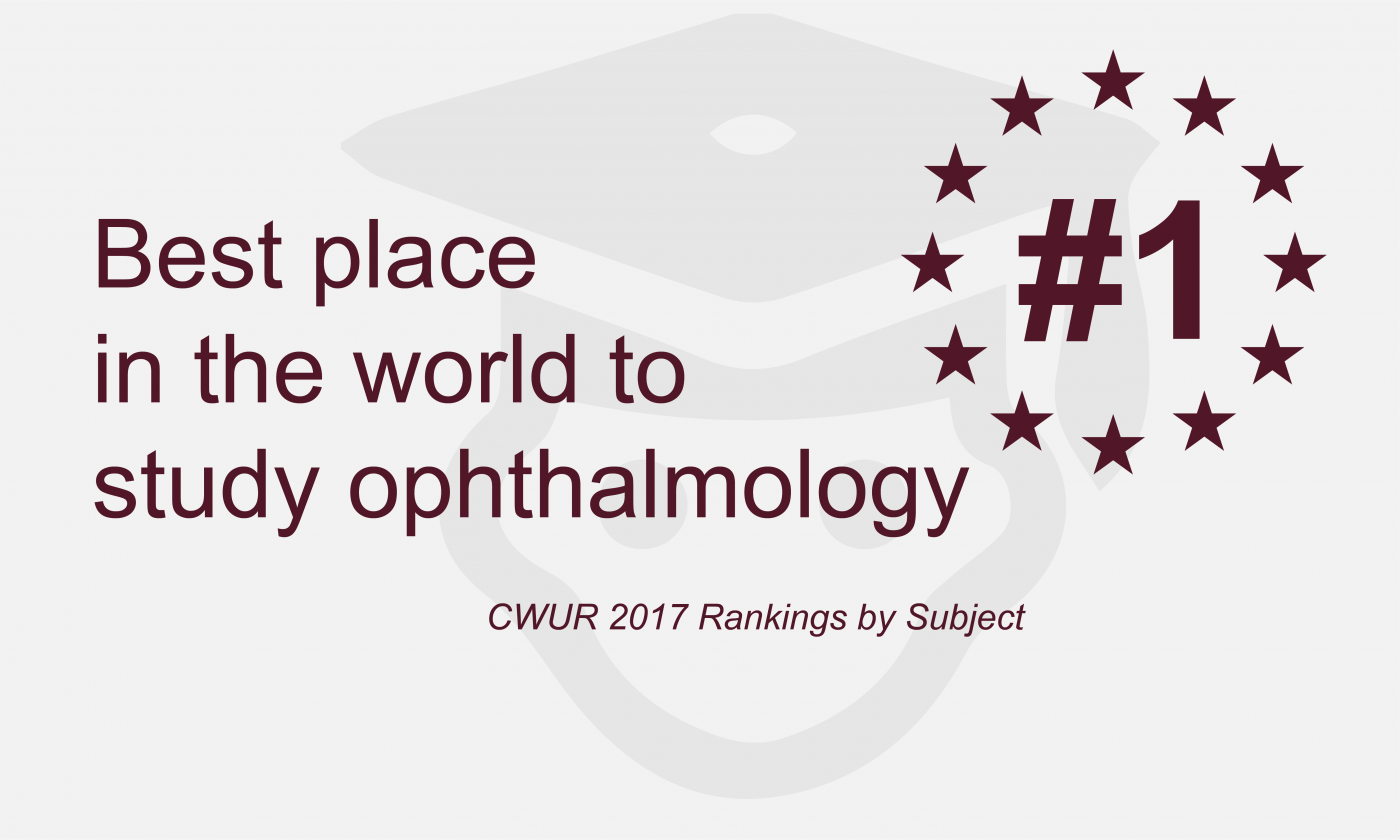 UCL is the best place in the world to study Ophthalmology
