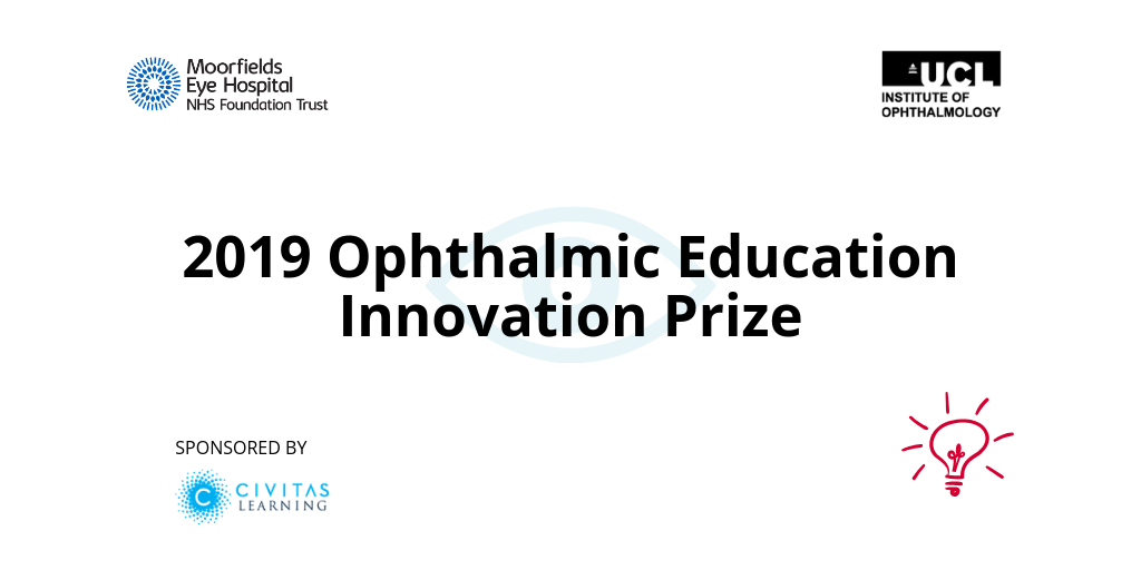 Ophthalmic education innovation prize banner