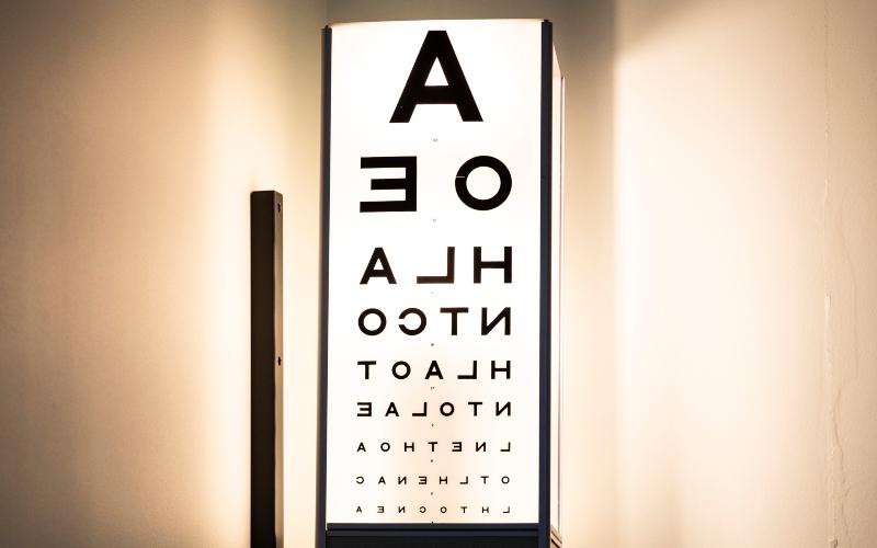 Optometrist's eye chart