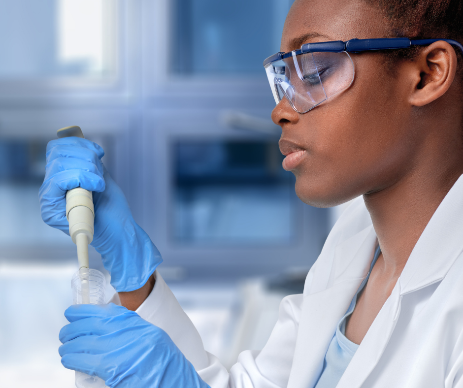 female black scientist in lab