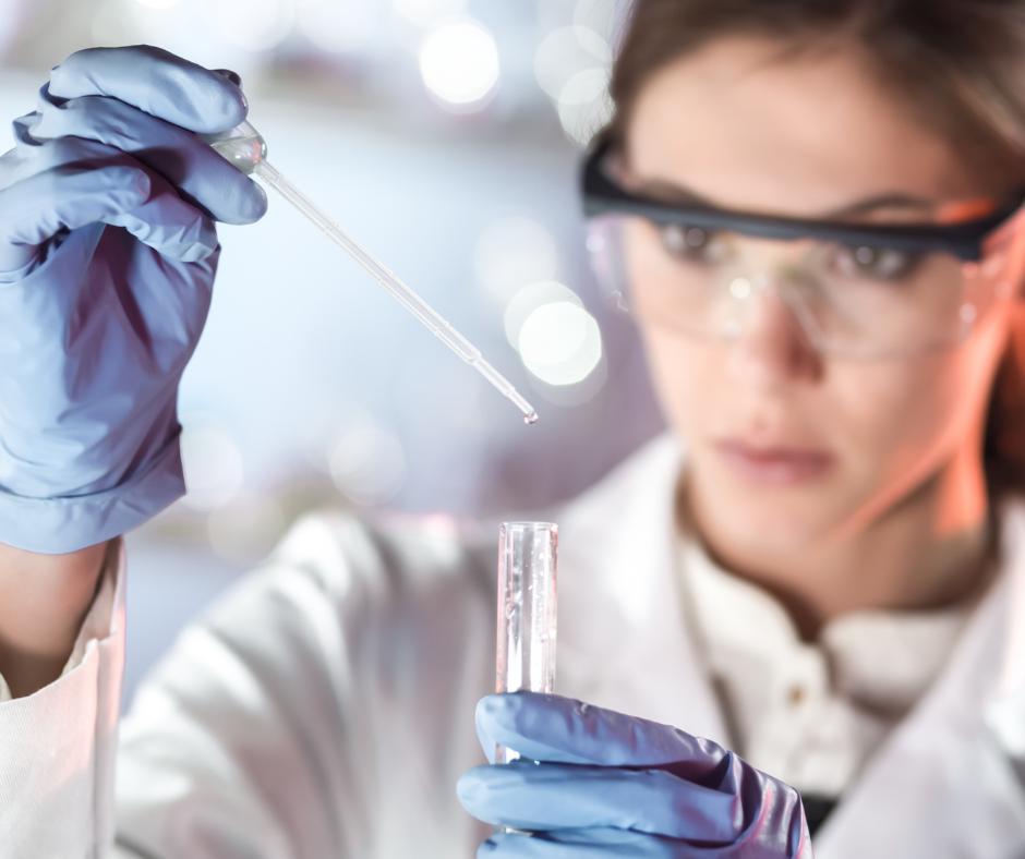 Female technician in a lab
