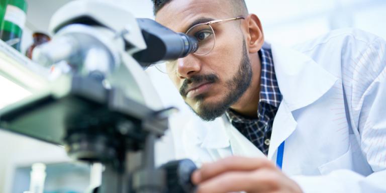 male researcher in a a lab