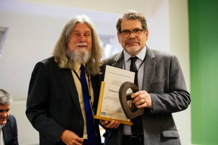 Gary Rubin Receiving RNIB lifetime achievement award…