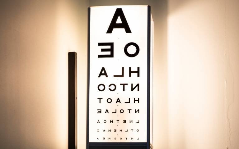 Optometrist's eye chart
