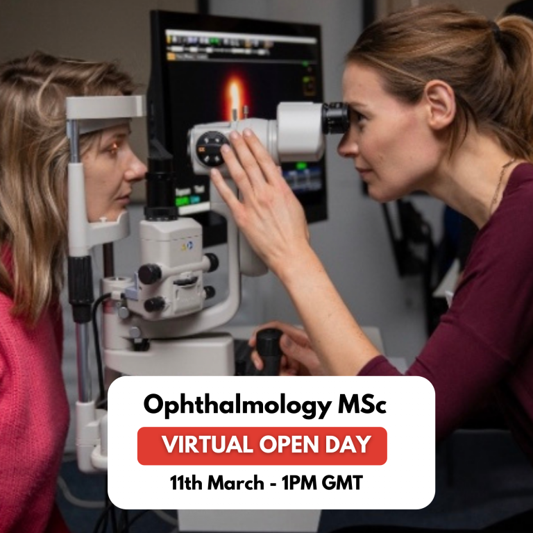 banner for ophthalmology virtual open day