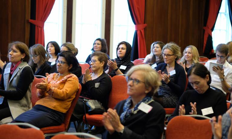 Appreciative audience at the Women in Vision UK Inaugural meeting