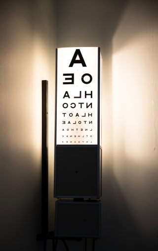 Optometry eye chart