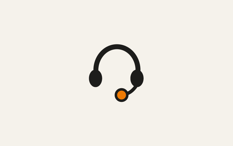 A stylised headset image for how to get help