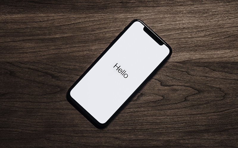 iPhone on desk