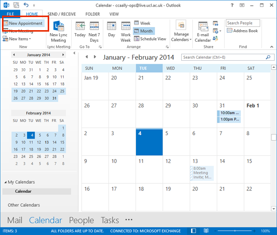 how to create a vacation calendar in outlook 2013