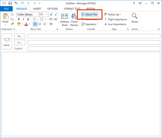 Add an attachment in Outlook 2016 for Mac | Information
