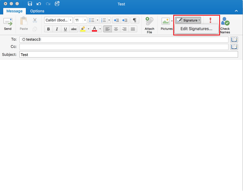 Add a signature in Outlook 2016 for Mac | Information