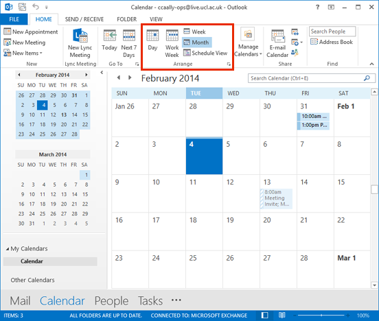 Year Calendar View In Outlook : Change the calendar view in outlook information