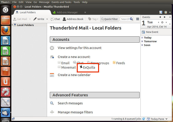 Connect/log in to Thunderbird (Linux) | Information Services