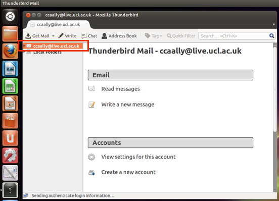 Add Your Account Log In To Thunderbird Information