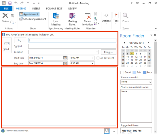 Create a meeting in Outlook 2013 Information Services Division