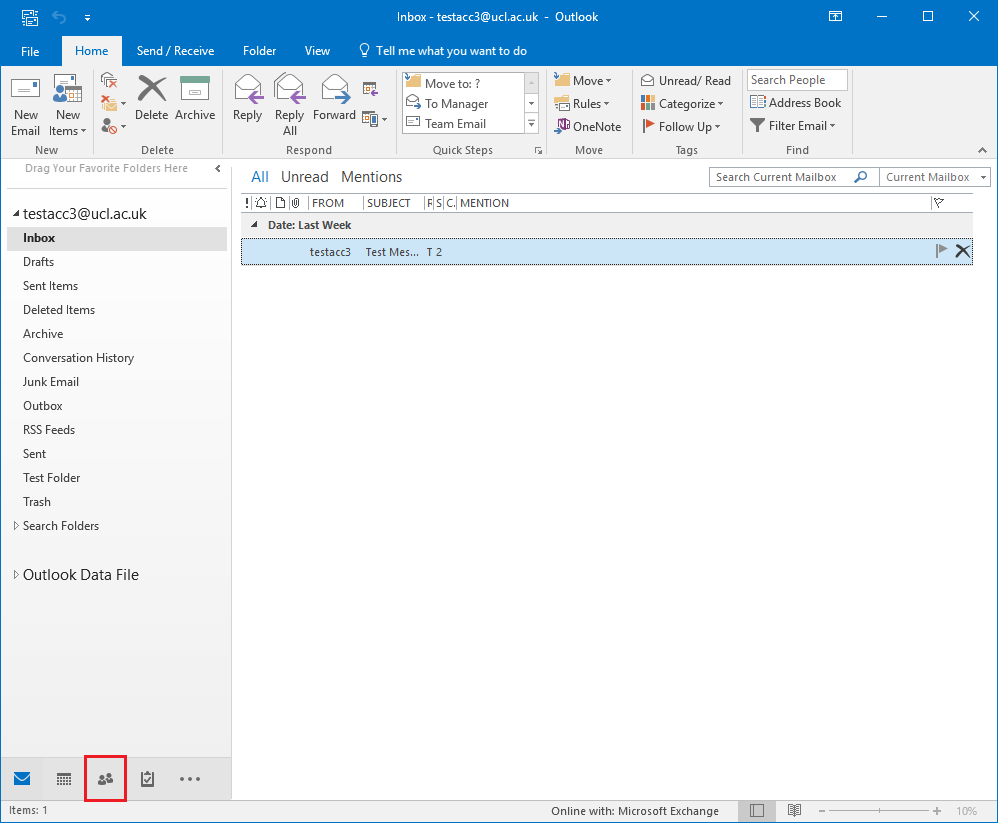 Delete a contact in Outlook 2016 for Windows | Information Services