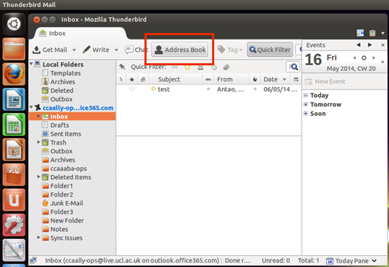 Find a contact in Thunderbird   Information Services