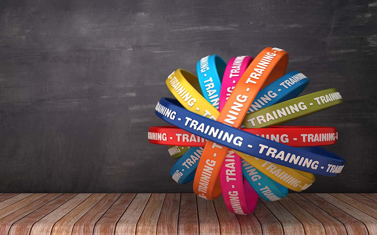 A ball of training wristbands