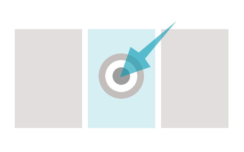 An image of a bullseye with an arrow dead centre