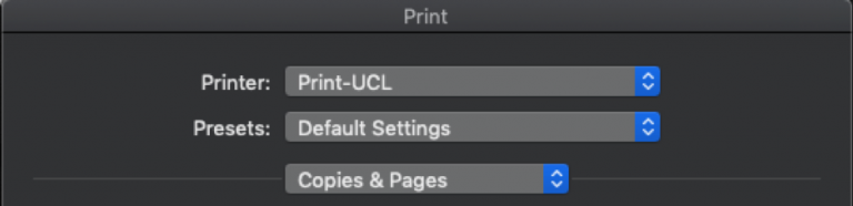 Mac@UCL select print queue