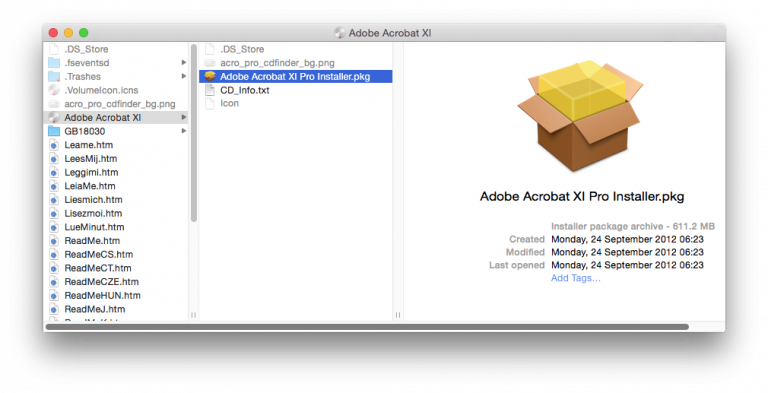Adobe Acrobat Xi Pro For Mac Install File