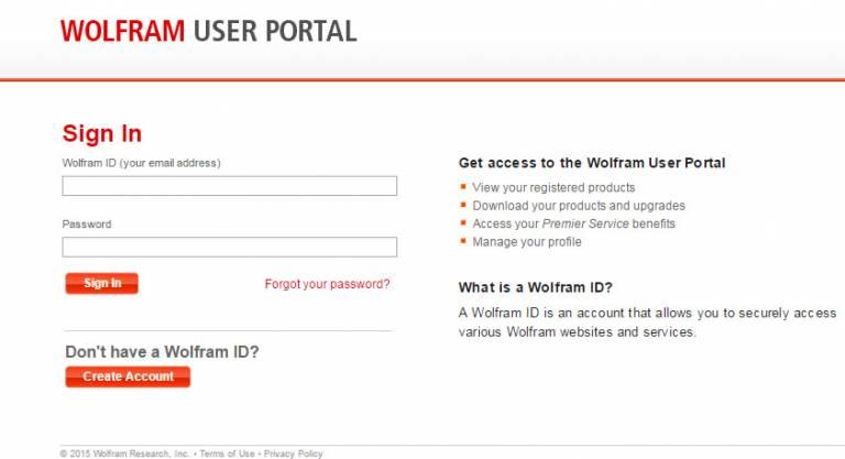 Wolfram User Portal…
