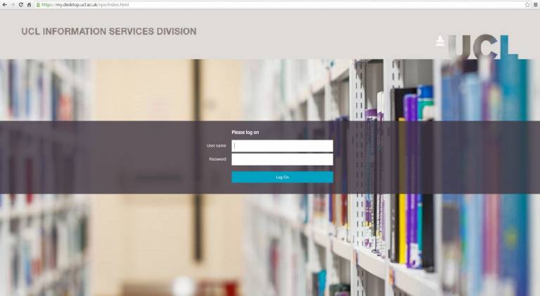 How to login to Desktop@UCL Anywhere | Information Services