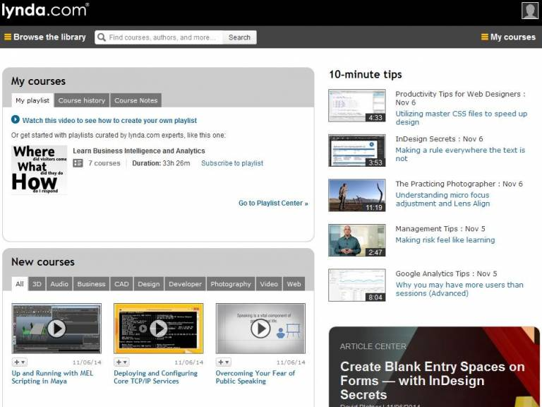 lynda.com screenshot…