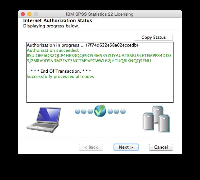 Internet authorization status…