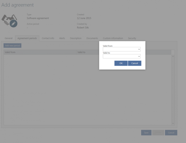 Add Agreement Periods…